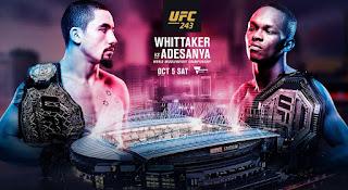 Ver repeticion UFC 243 Whittaker vs Adesanya En español online