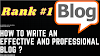 How to write an effective and professional blog ?