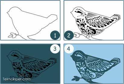 cara membuat karya paper cutting