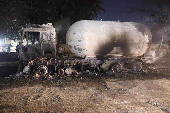 Gas tanker explodes in Ikeja