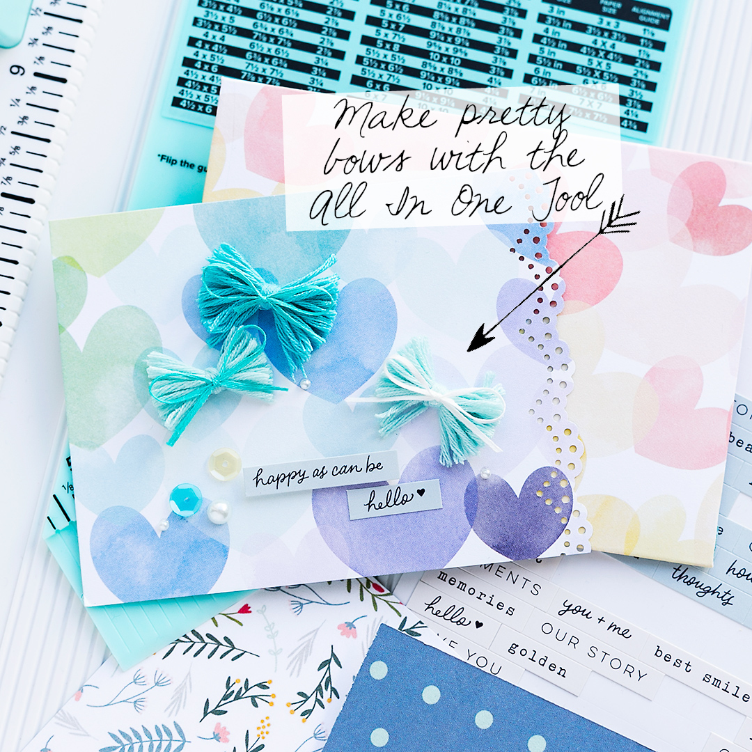 We R Memory Keepers All In One Tool Spring Card with envelope and pretty bows
