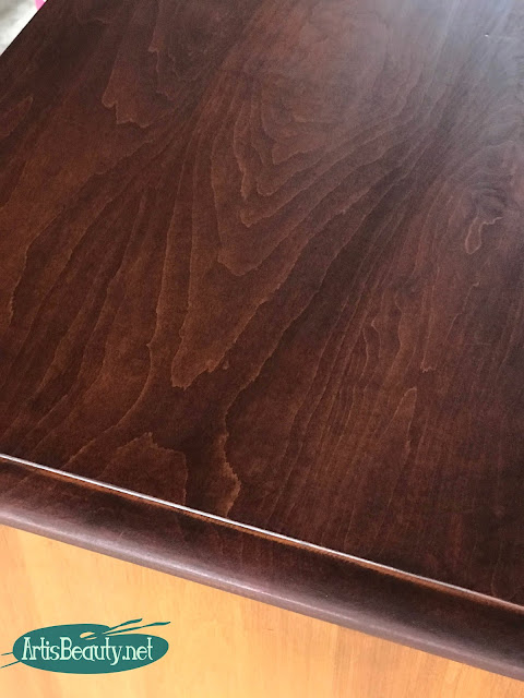 general finishes gel stain in mahogany dresser makeover