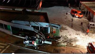 Estado del coche arrollado por una guagua donde murieron dos hermanos de 5 y 8 años en Estella-Lizarra, Navarra