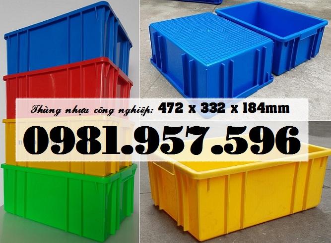 Hộp nhựa công nghiệp, thùng nhựa đựng linh kiện, vật tư