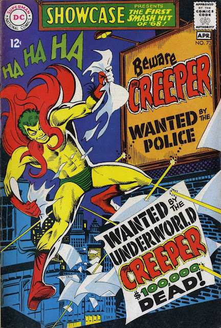 Here They Are In All Their Glory Including The Creeper Cover And Splash Intended For A 1978 Issue Of Showcase Courtesy Cancelled Comics Cavalcade 2