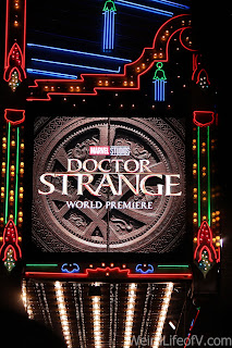 Doctor Strange Premiere advertised on the El Capitan Theatre Marquee