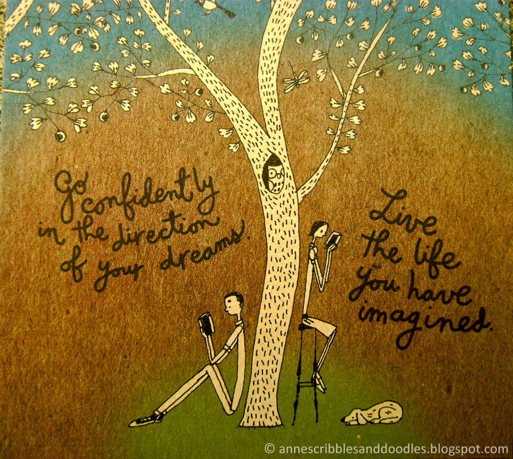 Papemelroti Postcard: Go confidently in the direction of your dreams. Live the life you have imagined.