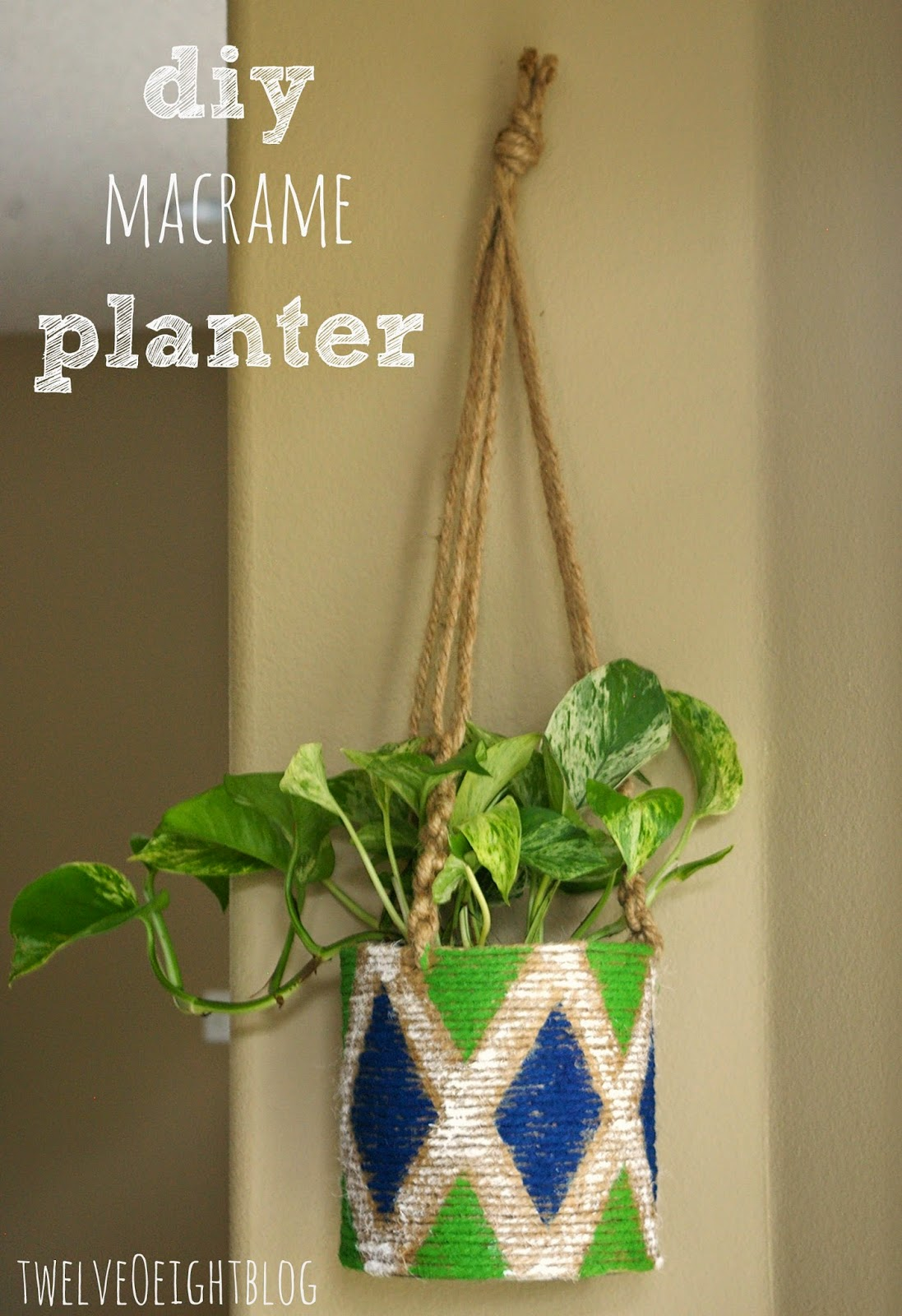 diy macrame hanging planter easy diy macrame hanging planter 3473