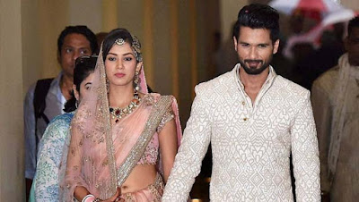 Mira Rajput and Shahid Kapoor in an Event