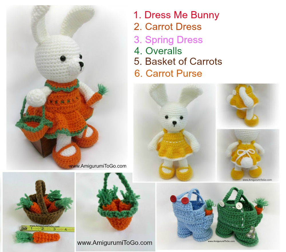 Free Amigurumi Carrot Pattern : Easter Amigurumi Patterns ~ Amigurumi To Go