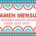 """Examen mes de Enero para 2° Segundo Grado """"segundo trimestre """" 2018-2019"""