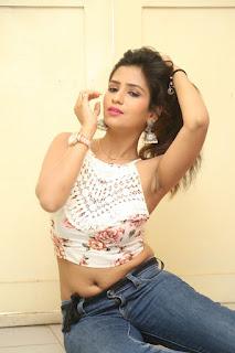 Deekshita Parvathi in a short crop top and Denim Jeans Spicy Pics Beautiful Actress Deekshita Parvathi January 2017 CelebxNext (190).JPG
