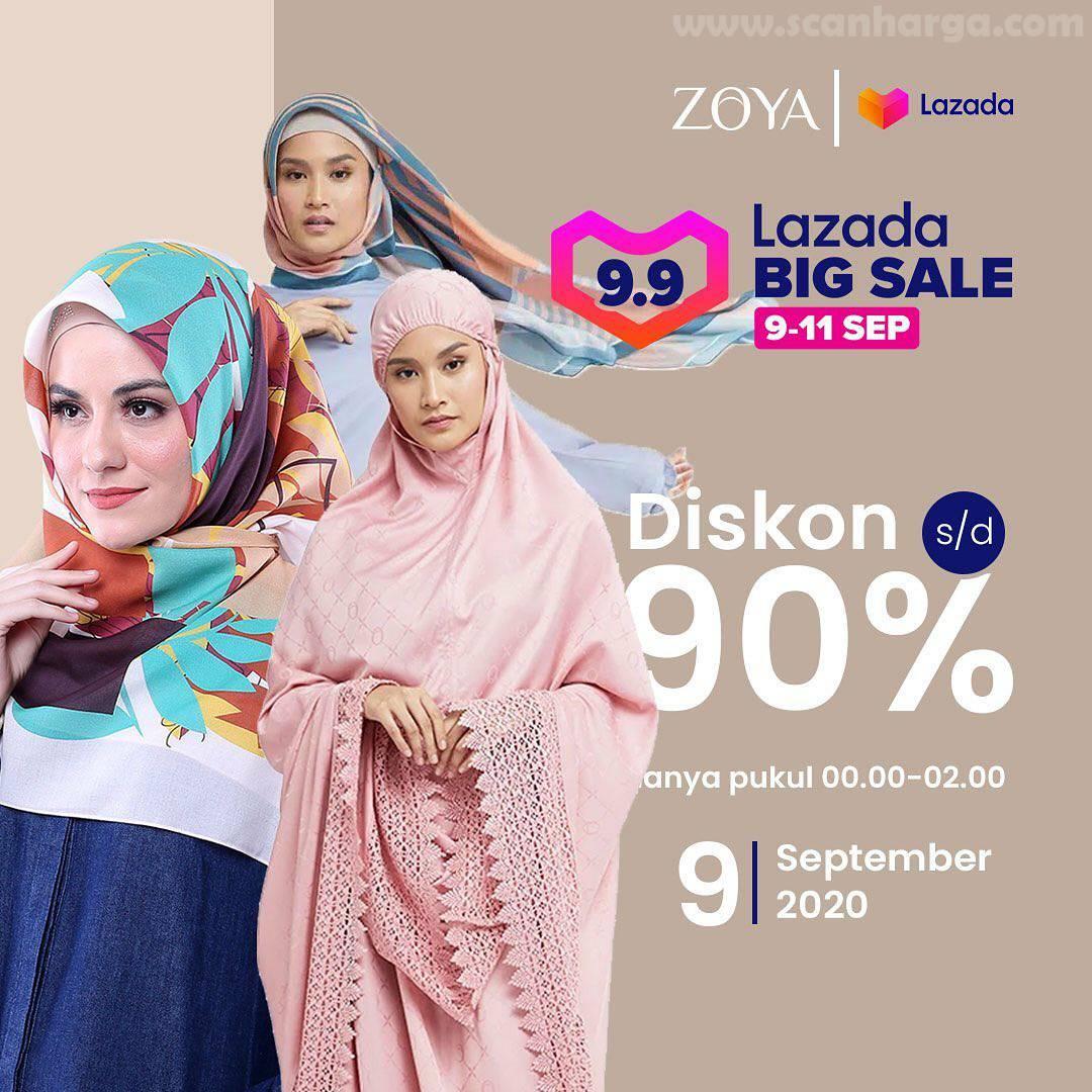Zoya Promo 9 9 Lazada Big Sale Diskon Hingga 90 Periode 9 11 September 2020 Scanharga