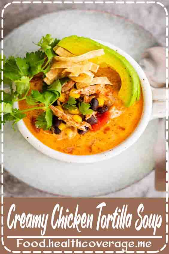 This creamy chicken tortilla soup is full of your favorite Mexican flavors! It's so easy to throw together and a perfect way to make use of leftover chicken!