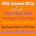 URDU Grammar Book: Questions And Answers Jobs Test