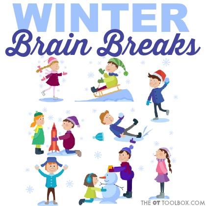 Use these winter brain break ideas in the classroom as a movement break for kids.