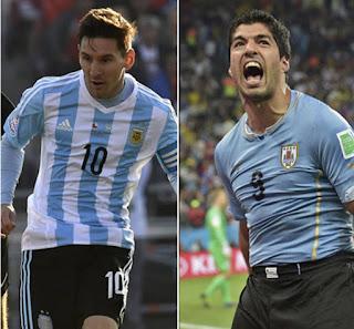 Argentina vs Uruguay en Eliminatorias Sudamericanas Rusia 2018