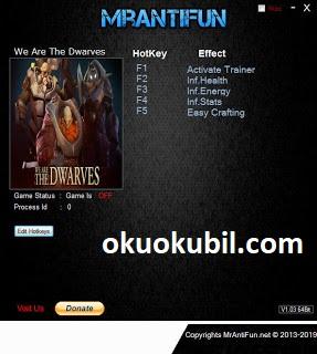 We are the Dwarves (PC) Sınırsız Can, Easy Crafting Enerji +4 Trainer Hilesi Haziran 2019