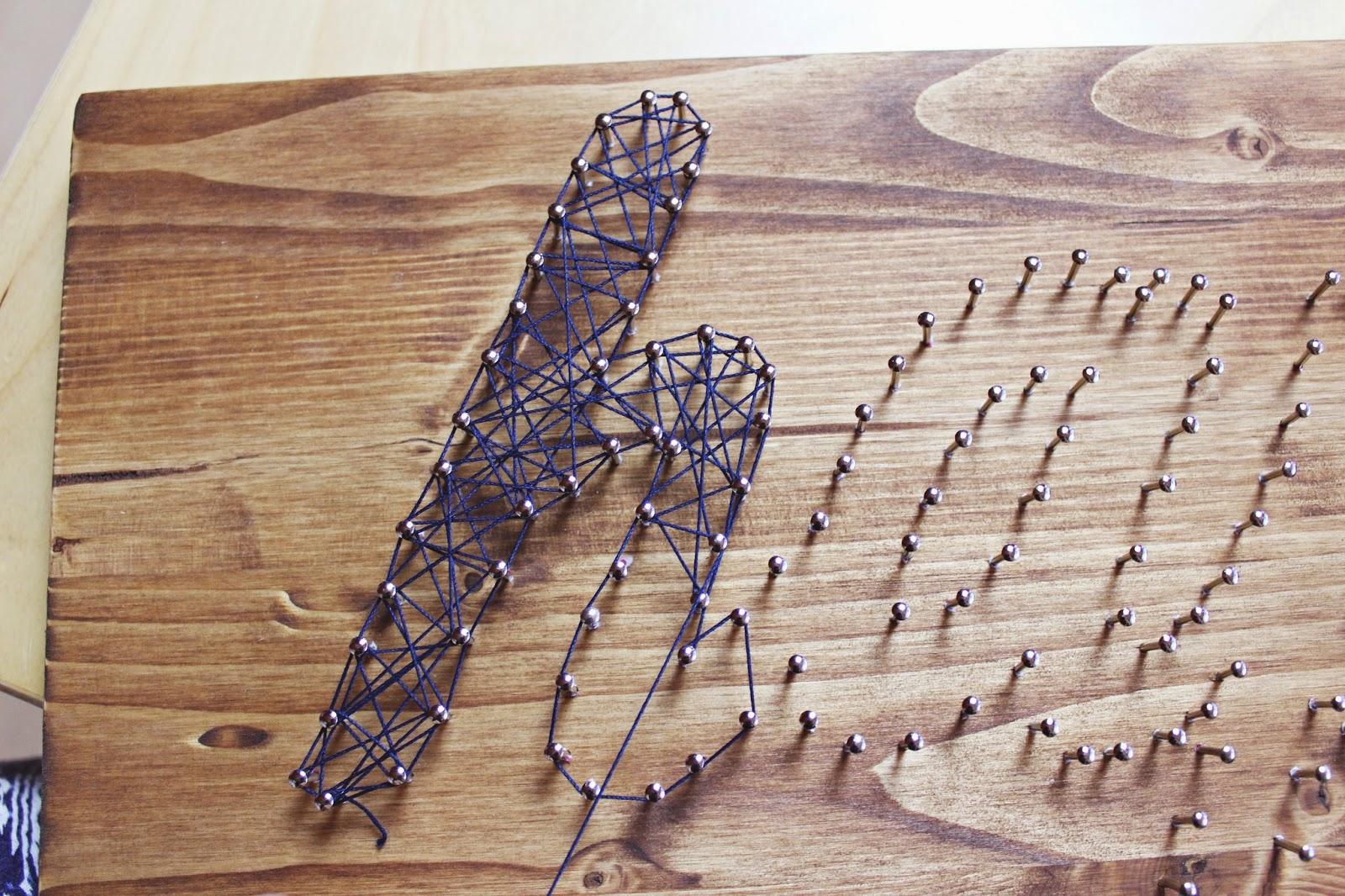 Meine Kleine Bunte Welt Diy Fadenbild String Art