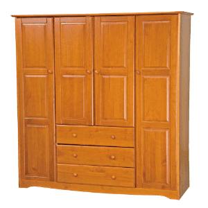 Locking Wood Wardrobe Closet