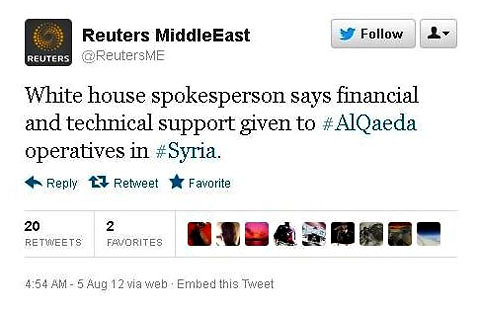 Fake Syria News Posted from Hacked Reuters blog and Twitter account
