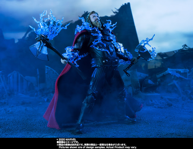 Avengers: Endgame Final Battle Thanos y Thor SH Figuarts