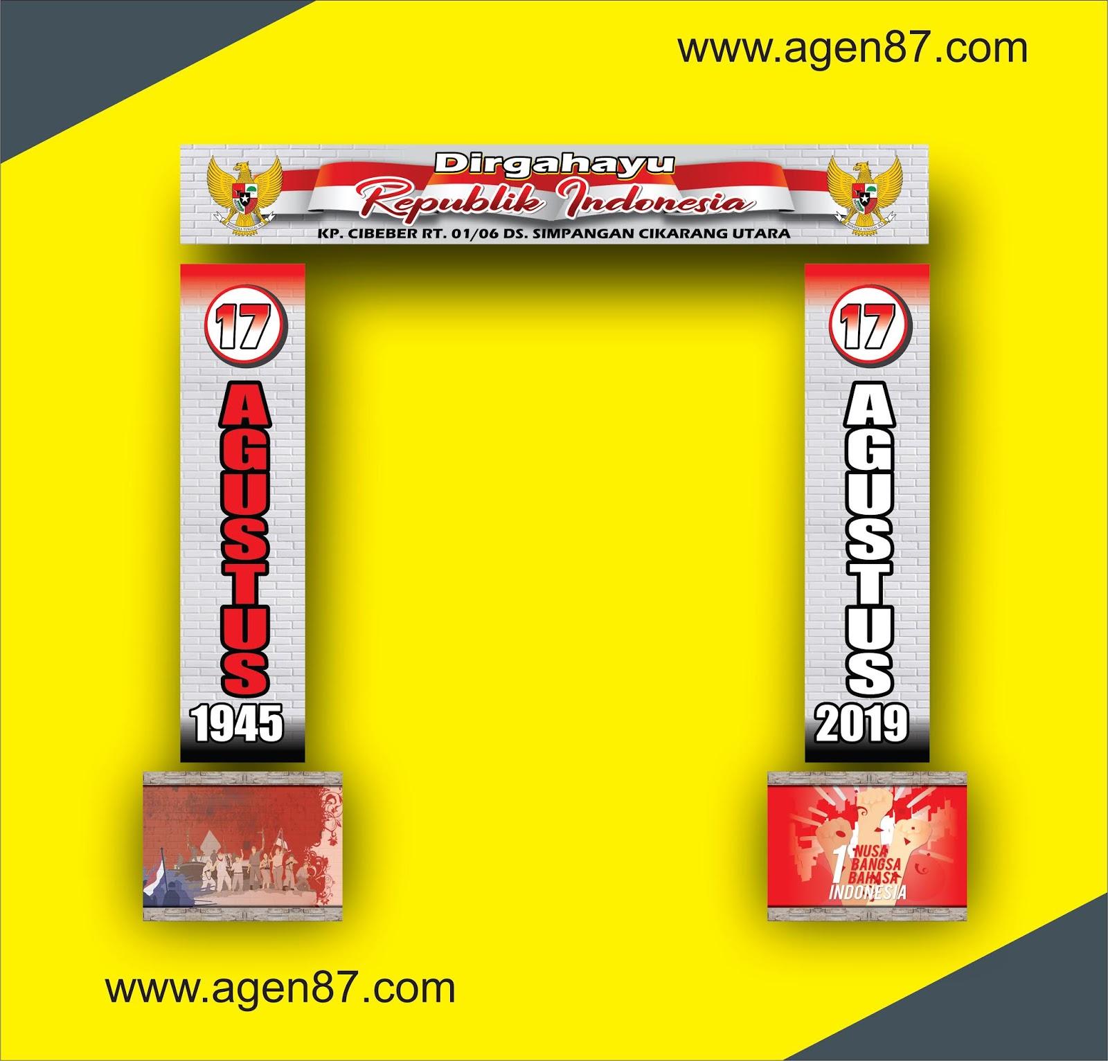 Banner Gapura HUT REPUBLIK Indonesia Terbaru - Agen87
