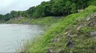 চাঁচলে নদীগর্ভে তলিয়ে যাচ্ছে নদীবাঁধ