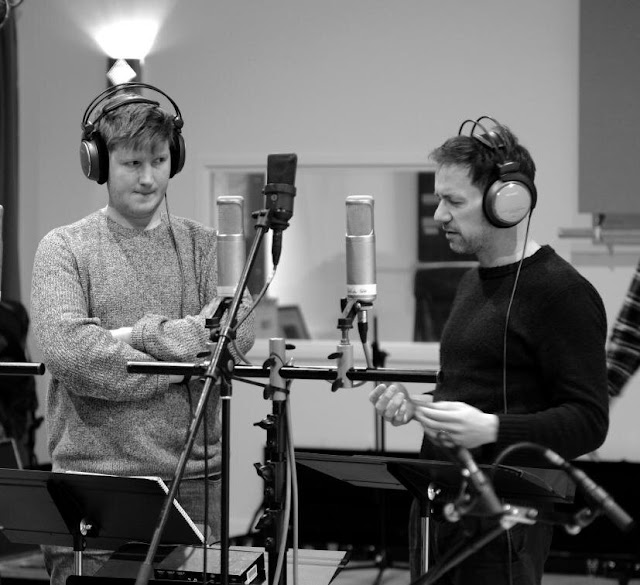 James Hall and Iestyn Davies recording 'Countertenor Duets' (Photo David Gough/Vivat Music Foundation)