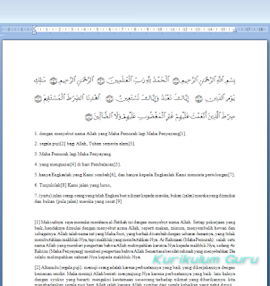 Download Plugin Al-Qur'an Untuk MS. Office Word