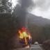 U Poljicu se zapalio kamion