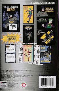 Back of Batman Valentines with Tattoos box