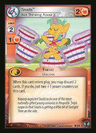 My Little Pony Snails, Not Thinking About It Defenders of Equestria CCG Card