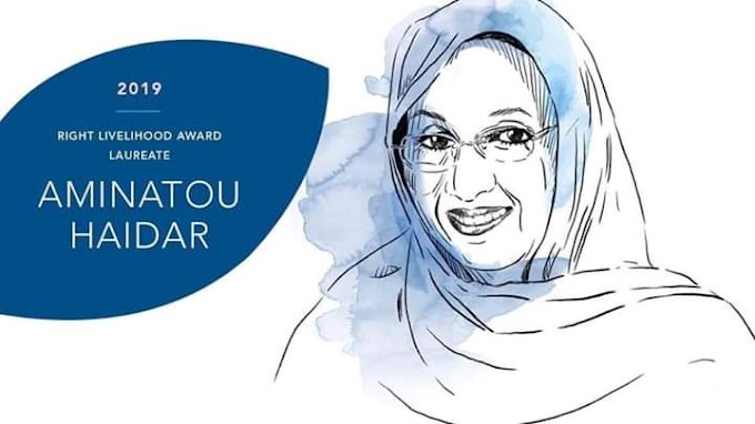 Aminetu Haidar Premio Right Livelihood Award 2019 de Estocolmo.