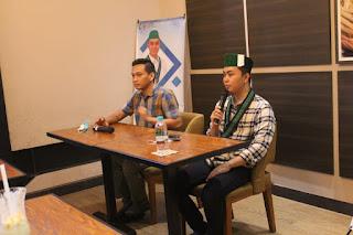 Diskusi dan Penyampaian Gagasan, Visi dan Misi Calon Ketua Umum PB HMI pada Jum'at, 19 Maret 2021 di Excelso, Jalan Ahmad Yani, Surabaya.