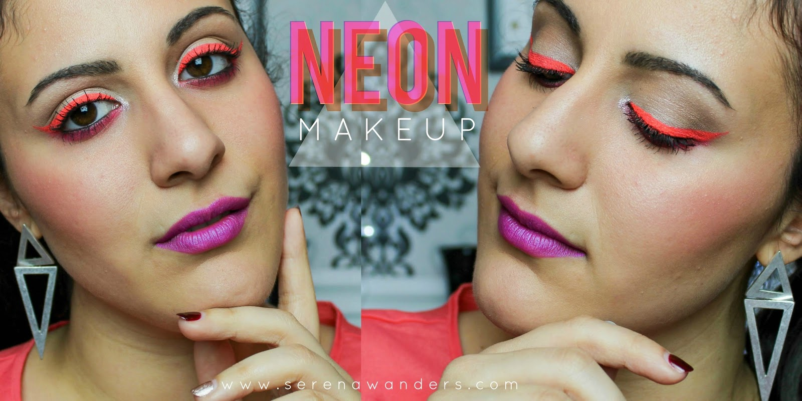 Serena wanders colorful neon fluo makeup tutorial coachella colorful neon fluo makeup tutorial coachella inspired baditri Choice Image
