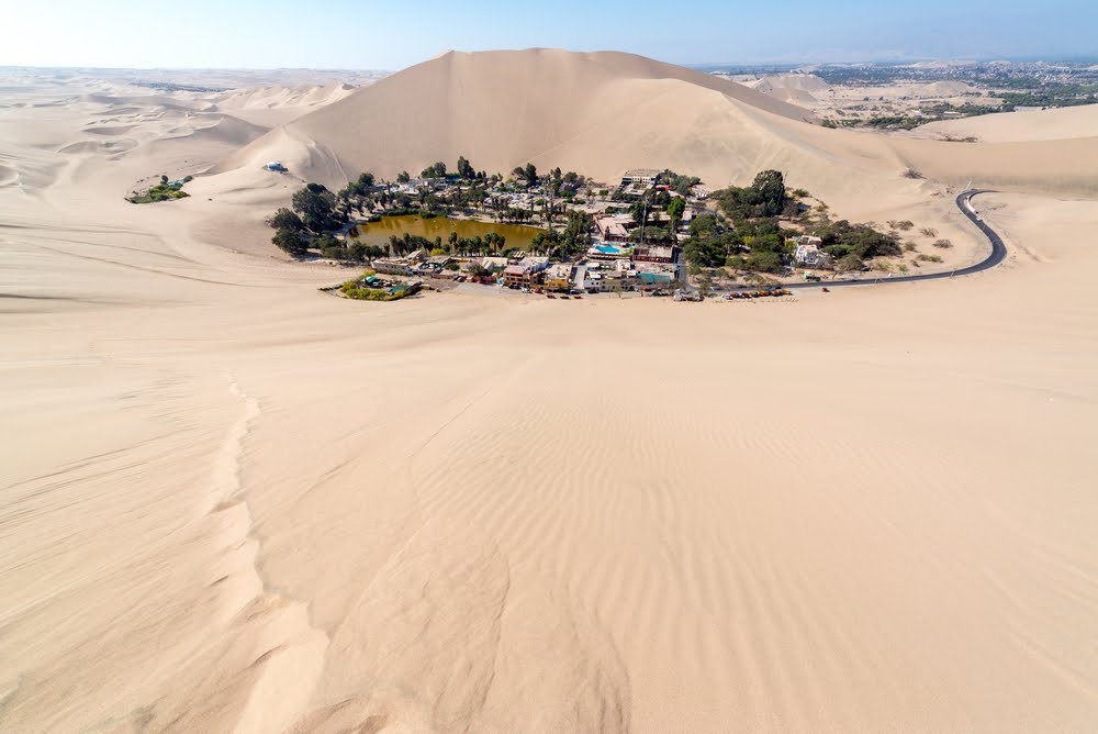 Huacachina oasis of Peru