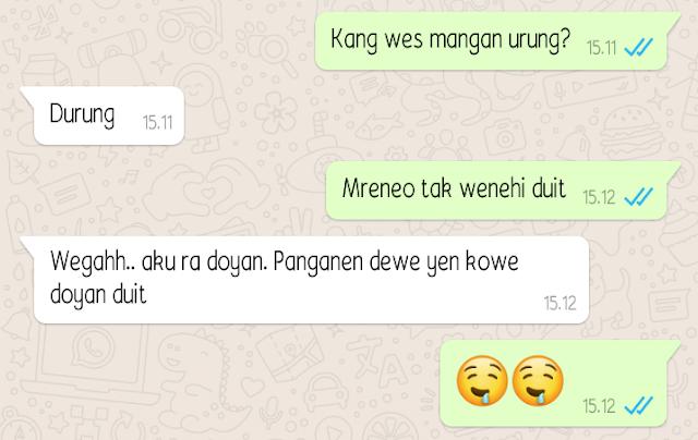 Kumpulan Chat Wa (Whatsapp) Lucu Bahasa  Jawa