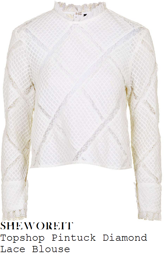 rosie-fortescue-topshop-ivory-high-neck-pintuck-diamond-lace-blouse