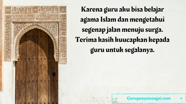 Kata-kata Mutiara untuk Guru Agama Islam Tercinta