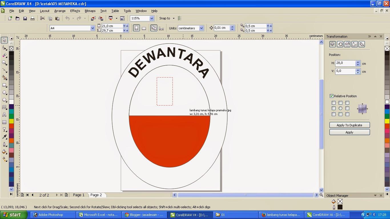 cara sederhana membuat logo pramuka jasadesain