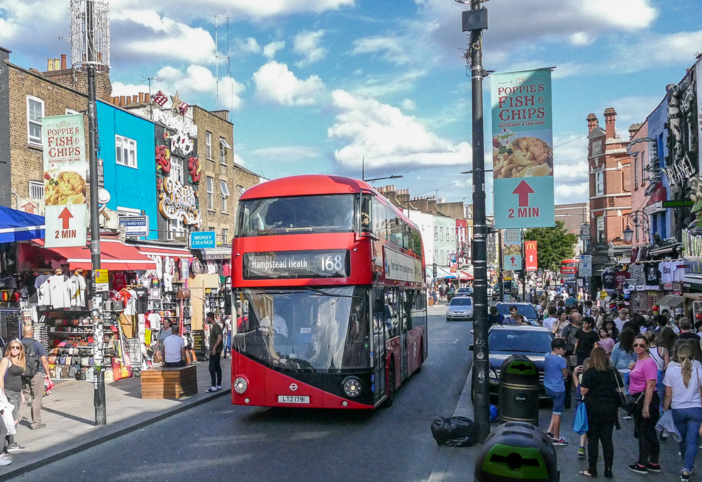 Bus to Camden Town