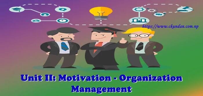 Unit II: Motivation - Organization Management