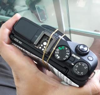 Kerusakan Canon EOS M3 dial Atas Rusak / Lepas