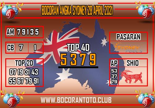 Syair Sydney 28 April 2021