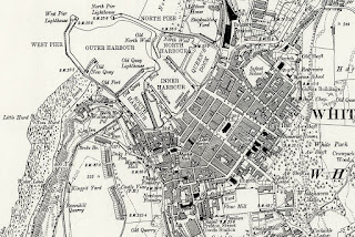 A detailed Victorian Map of Whitehaven from c1888
