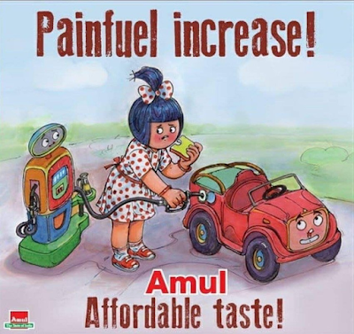 Amul on petrol price