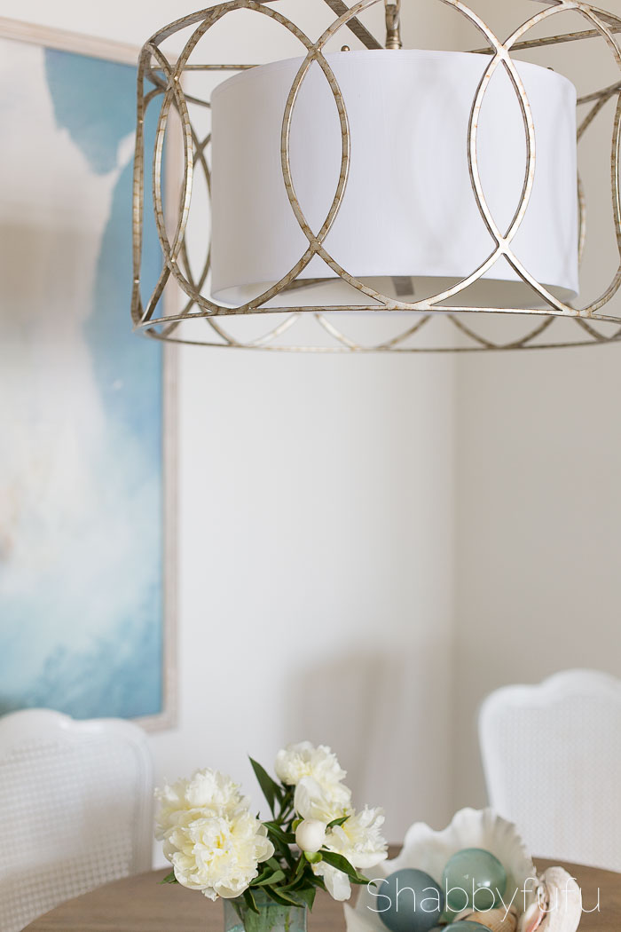 gold and silver large pendant chandelier light