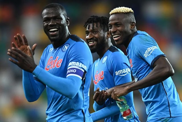 Victor Osimhen scored his first goal this season as Napoli humiliated Udinese by 4-0