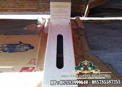 Makam Marmer Simpel | Makam Marmer Trap Satu | Kijing Atau Makam Marmer